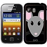 DesignedByIndependentArtists Hülle für Samsung Galaxy Y (S5360) - Süße Graue Maus Gesicht by Ilovecotton