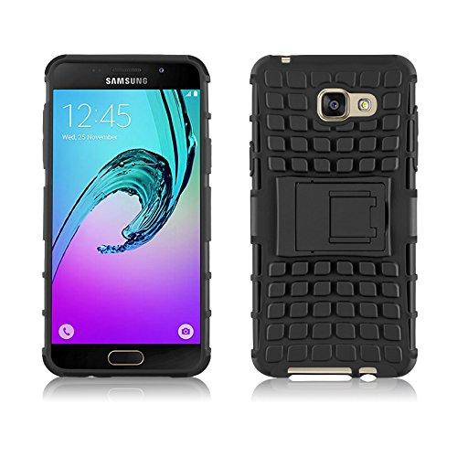 Galaxy A5 (6) 2016 Hülle, JAMMYLIZARD [ ALLIGATOR ] Doppelschutz Outdoor-Hülle für Samsung Galaxy A5 (6) 2016, SCHWARZ