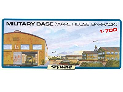 1/700 Military Base (Warehouse, Barracks) (Plastic model) von Pit road