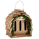 Pet Ting Wooden Butterfly Hotel House Natural Wood Hanging Garden Decoration
