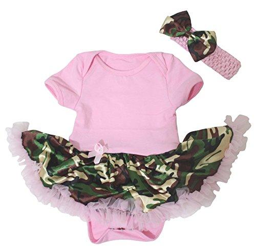 Petitebelle Baby Mädchen (0-24 Monate) Body rosa rose 0-3 Monate Gr. 12-18 Monate, (Baby Camo Tutu)