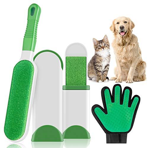 Tecdo spazzola rimozione animali domestici, spazzola togli peli per cani gatti, magica spazzola peli animali e levapelucchi adatto a vestiti divani cuscini tappeti (con toelettatura guanto)
