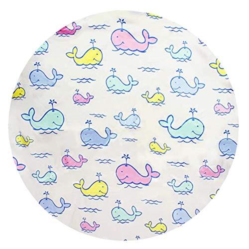 YOUJIAA Kinderteppich Baby Matte Unter Hochstuhl für Kinder Bodenmatte Spritzschutzmatte (Wal, Rund: Durchmesser 110cm) - Runde Hochstuhl