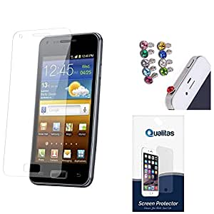 Qualitas Ultra Clear Pack of 7 Anti-Glare Anti-Scratch Anti-Fingerprint Screen Protector for HTC One M9 Plus + 3.5mm Jewel Dust Jack