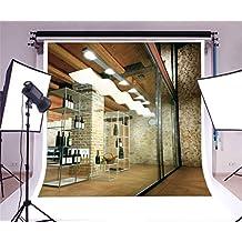 aaloolaa fotografía telón de fondo 3x 3m Vinilo fondo para estudio fotográfico adulto chica retrato artístico vino pantalla estantes almacenar Art lámpara decoración escaparate interior diseño Interior escena Props grabación de vídeo Studio