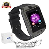 Smart Watch, CulturesIn Bluetooth Touch Screen Smartwatch Supporto carta SIM / TF Contapassi per fotocamera Monitor per dormire Facebook Whatsapp Sports Fitness Tracker per telefoni Android Samsung Huawei Sony HTC etc (black)
