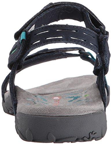 Merrell Terran Strap Ii, Sandales Plates Pour Femmes Bleues (marine)