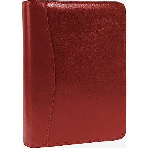 Scully Italian Leather Zip Weekly Organizer (Red) by Scully (Zip Scully)