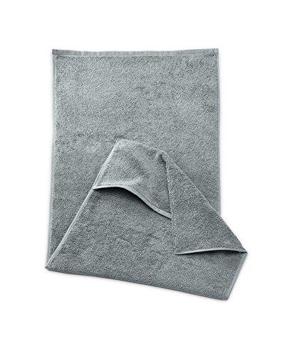 myHomery Sporthandtuch - Fitnesshandtuch aus Baumwolle - Handtücher rutschfest - Trainingshandtuch mit Lasche für Trainingsgeräte - Fitness-Handtuch Anthrazit, 40x100cm + 16 cm (Handtuch 16)