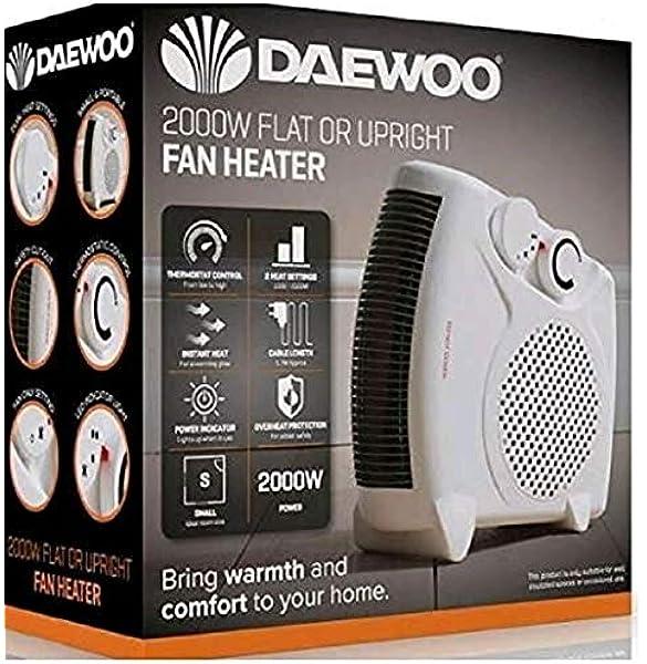 Daewoo Fan Heater 2000w Electric 2 Heat