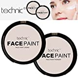 Technic White Foundation Crema Cara Paint or Polvo Halloween Goth MakeUP