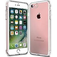 Funda iPhone 7, KKtick Funda Carcasa Gel Transparente [Choque Tecnología Absorción], Suave Flexible piel Resistente a los Arañazos Silicona TPU Bumper Cover Case Protectora para iPhone 7