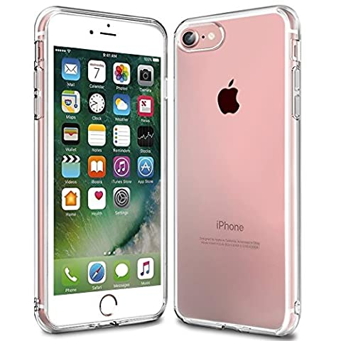 iPhone 7 Hülle, KKtick Transparente Kratzfeste Schutzhülle iPhone 7 Crystal Clear Bumper Premium TPU Silikon Durchsichtige Handyhülle für iPhone 7 Case