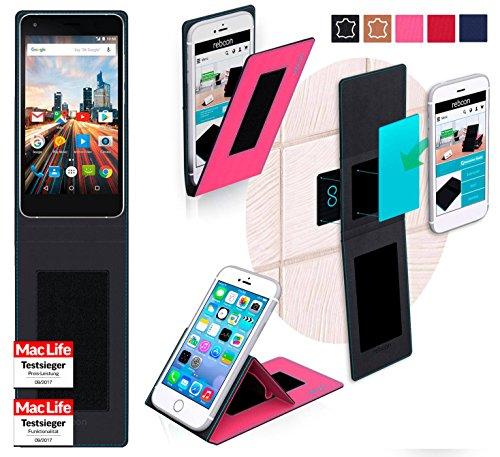 reboon Hülle für Archos 50f Helium Lite Tasche Cover Case Bumper | Pink | Testsieger
