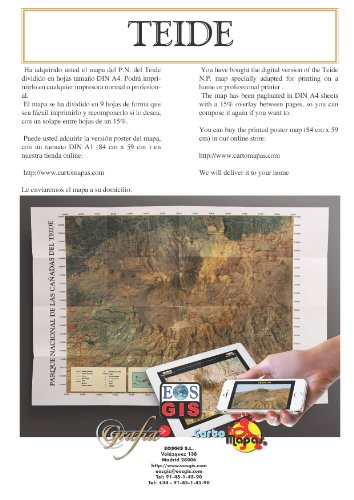 Map of Teide National Park: for printing at home DIN A4 ...