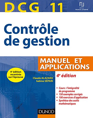 DCG 11 - Contrle de gestion - 4e d. - Manuel et applications