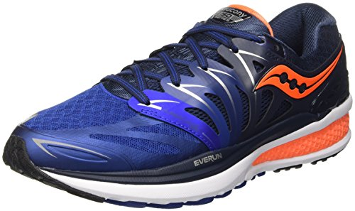 Saucony Hurricane Iso 2, Entraînement de course homme Bleu (Navy/Blue/Orange)