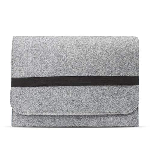 eFabrik Schutzhülle für Acer Travelmate Spin B1 Tasche aus Filz 11,6 Zoll Filztasche Case Sleeve Soft Cover Schutztasche Sleeve, Farbe:Grau