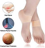 Gel Heel Protector, Plantar Fasciitis Support Brace Gel Heel Cushion Silicon Heel Protection Pad Insoles Plantar Fasciitis S