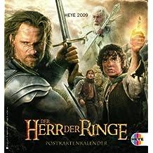 Herr der Ringe Postkartenkalender 2009