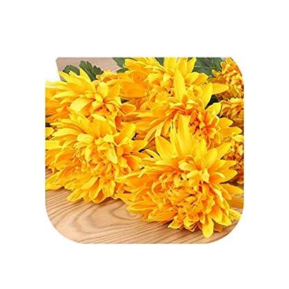 sevenTimes – 2 Cabezas de Gerbera Artificial, crisantemo de Seda, Flores Artificiales, Flores Artificiales, decoración para el hogar