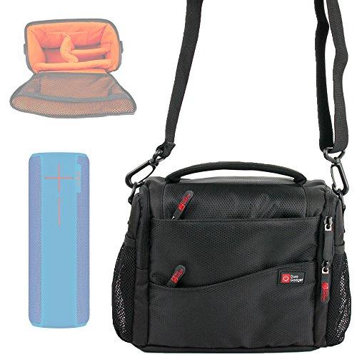 Duragadget Sacoche Noir Orange de Transport pour Ultimate Ears UE Boom 2 et UE ROL, JBL Flip 2 / Flip II Enceintes Portables sans Fil - Garantie de 2 Ans