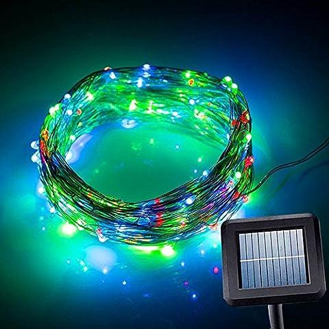 Hrph 100 LED Guirlande Lumineuse Solaires Etanches Extérieurs 10M Lumières