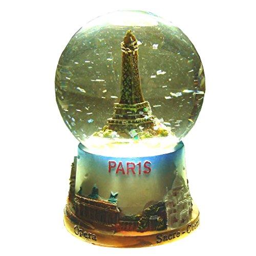 Souvenirs de France - Boule à Neige Tour Eiffel Verre et Résine