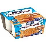 Nestlé Bébé P'tit Gourmand Caramel - Laitage dès 6 mois - 4 x 100g -Lot de 6
