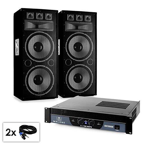 Set PA 'WarmUp Party TX215' Casse 2x38cm amplificatore 3000w