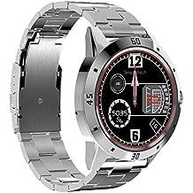 N6 Smartwatch Cinturino in acciaio Argento