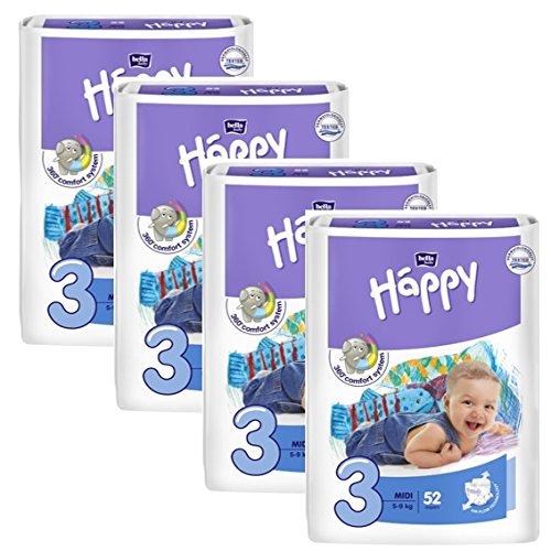 Bella Baby Happy Windeln Größe 3 midi 4-9 kg Big Pack, 1er Pack (1 x 78 Stück) - 2