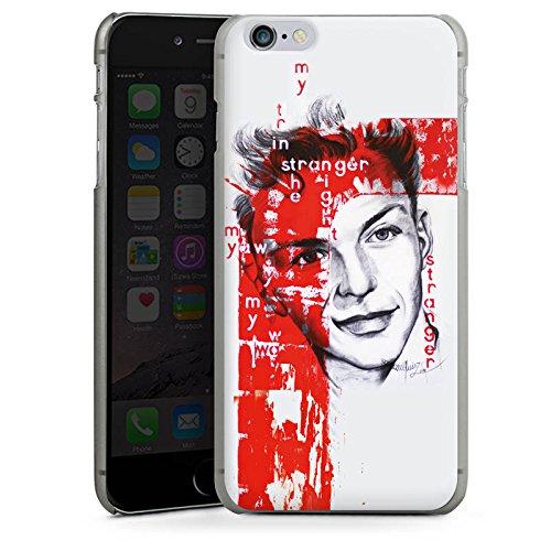 Apple iPhone X Silikon Hülle Case Schutzhülle Frank Sinatra Zeichnung Mann Hard Case anthrazit-klar