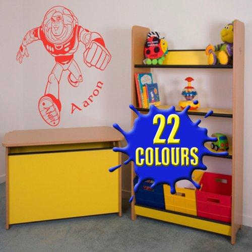 (Toy Story Buzz Lightyear–Personalisiert mit Ihrem Namen Wahl–Kinder Wand Aufkleber (groß))
