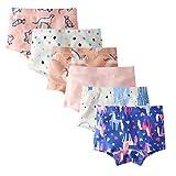 IPBEN 6 Pack Biancheria Intima di Cotone per Ragazze Bambini Mutande Slip Breve Mutande 3-13 Anni Bambini Mutandine