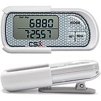 CSX P375 3D Tri-Axis Schrittzähler mit digitaler Anzeige, Clip und Gurt, einschließlich Ebook, genauer Kalorienzähler, 30 Tage Speicher, Entfernung Meilen/km, täglicher Aktivitätstracker, Aktivitätszeit