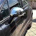 HIGH FLYING für 500X 2015-2018 Exterieur Rückspiegel Seitenspiegel Stylingleisten Verchromt ABS Kunststoff 2 Stück