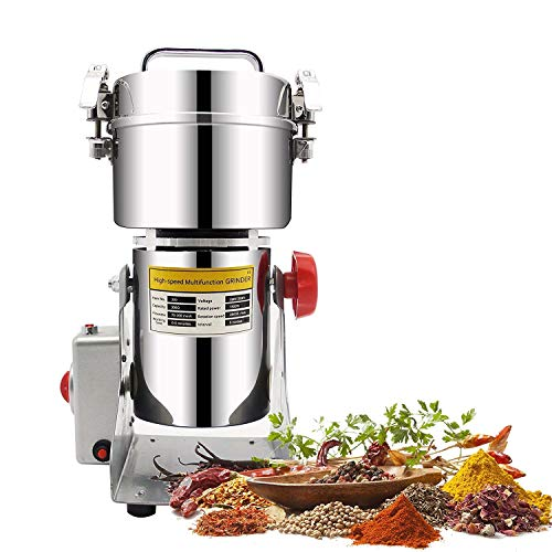 CGOLDENWALL HC-300 300g Stainless Steel Electric High-speed Grain Grinder Mill Family Medicial Powder Machine Commercial Electric Grinder Cereals Grain Mill Herb Grinder Pulverizer 110v/220v gift for mom, wife