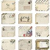 San Bodhi® 12Vintage Mini im europäischen Stil Luftpost-Briefumschlag für Grußkarten, Papier, multi, Einheitsgröße