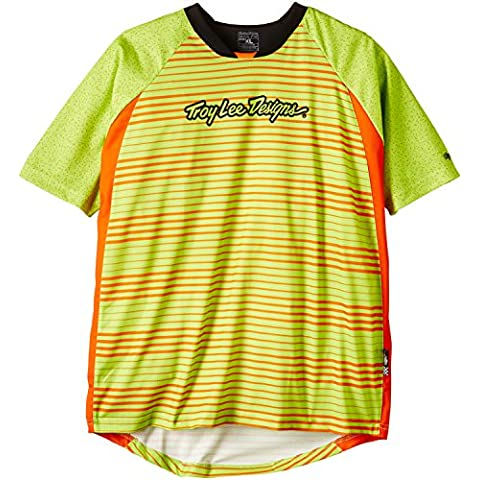 Troy Lee Designs Skyline - Maillot de ciclismo para hombre, color naranja, talla XL
