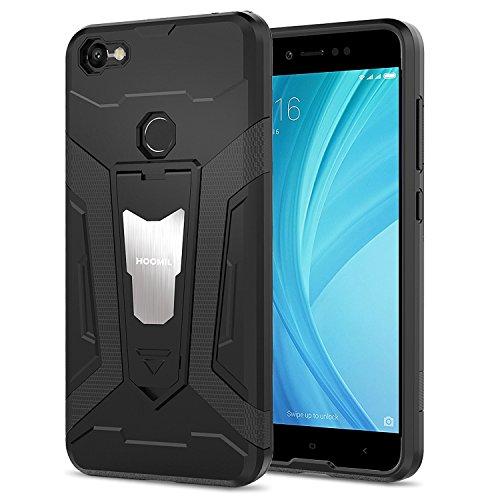 HOOMIL Stoßfest Silikon Schutzhülle für Xiaomi Redmi Note 5A/5A Prime Hülle mit Magnetisch Ständer Case Handyhülle (Schwarz)
