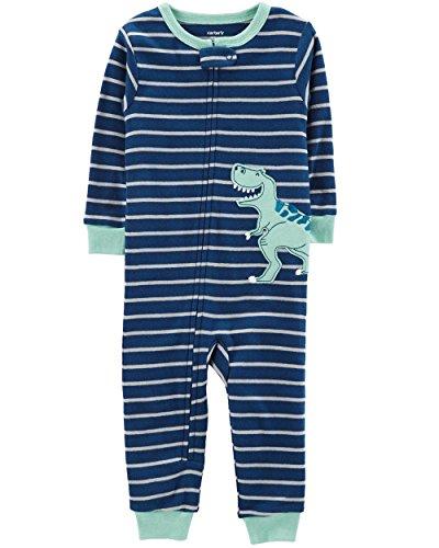 Carter's Baby Boys' 1-Piece Snug Fit Footless Cotton Pajamas (12 Months, Tiger Football)