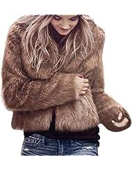 Manteau Femme Hiver,Yannerr Les Femmes D'Hiver Chaud à Manches Longues SurvêTement Manteau Veste Manteau Pardessus (L, Marron)