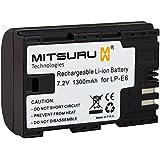 Mitsuru® batterie de remplacement pour Canon LP-E6 LPE-6 LPE6 compatible avec Canon EOS 5D MARK 2 II 60D 7D