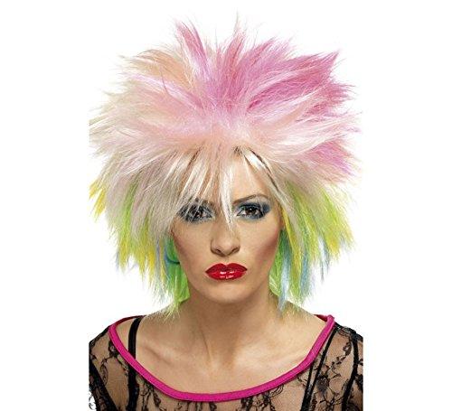 80'S Cute Wig Fancy Dress Ladies (1980S) - Rainbow