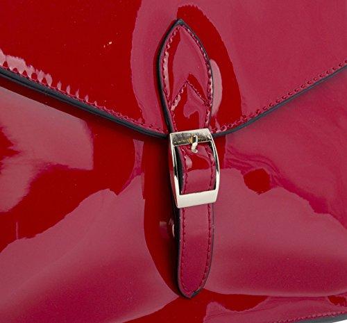 Big Handbag Shop - Borsa a tracolla donna Marrone (Cammello medio)