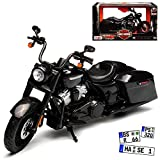 alles-meine GmbH Harley Davidson 2017 Road King Special Schwarz 1/12 Maisto Modell Motorrad Auto mit individiuellem Wuns