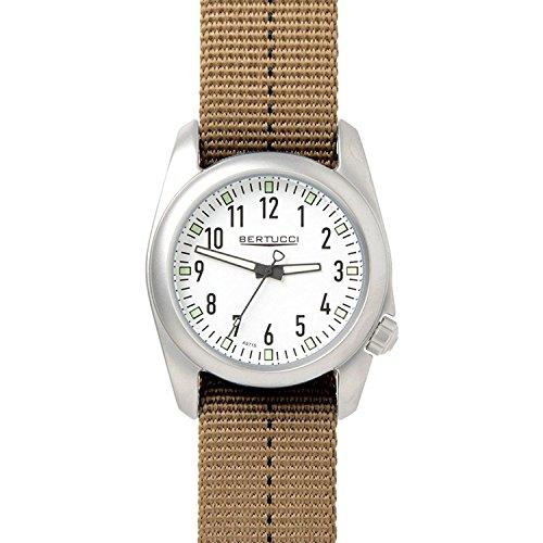 Bertucci 11070Brown nylon 40mm in acciaio INOX Ventara orologio da uomo