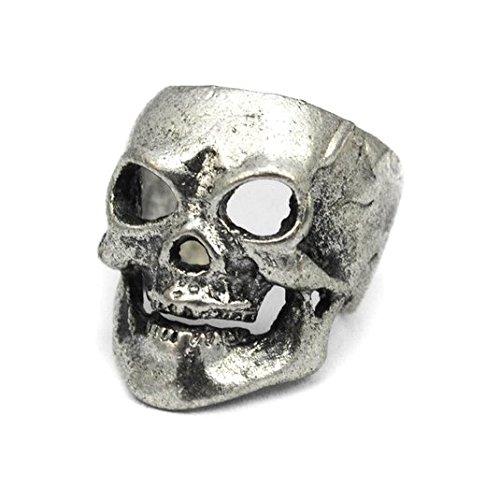 Skull Ohr Manschette ~ Gothic Biker Clip auf Ohrringe Ohrringe nicht durchbohrt