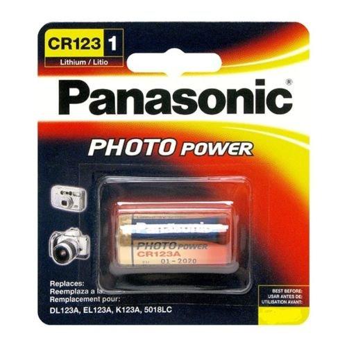Panasonic CR 123A / CR123 al litio (3.0V) 1400 mAh, confezione da 4
